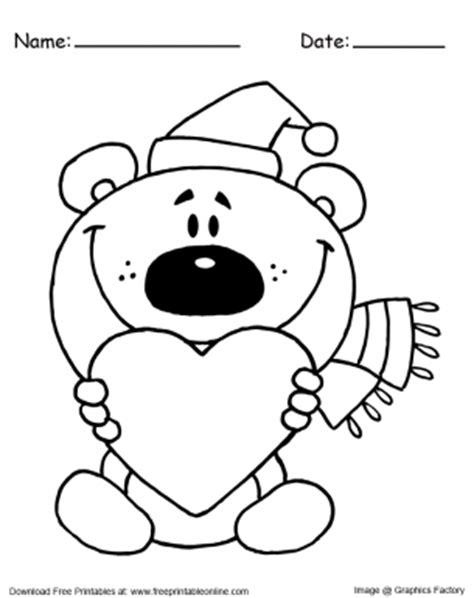 santa bear coloring page teddy bear santa christmas coloring pages