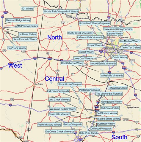texas winery map texas wineries featured on texas and wine