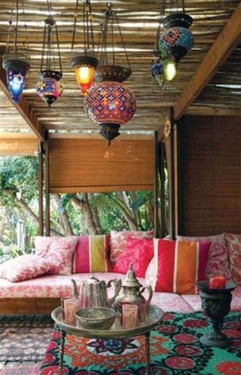 garden themed living room 20 moroccan style house with outdoor spaces home design and interior