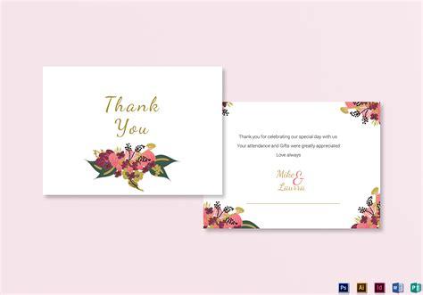 thank you card illustrator template burgundy floral thank you card design templates in word