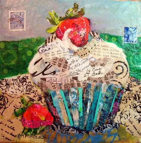 Paper Collage - nancy standlee cupcake torn paper collage