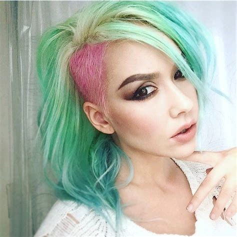 mint color hair mint green hair color with blue hair and pink hair color