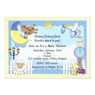 Wedding Announcement Rhymes by Nursery Rhyme Baby Shower Invitations Announcements Zazzle
