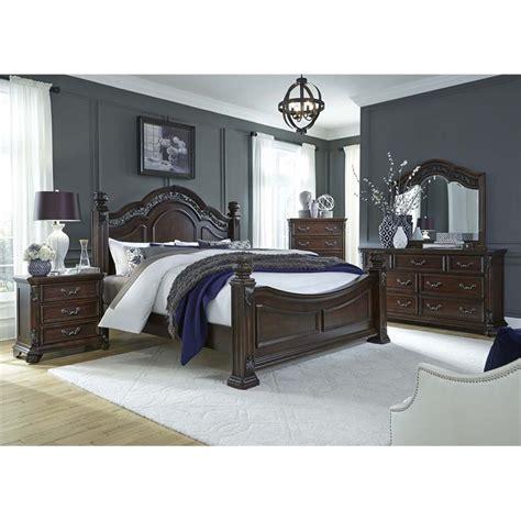 Liberty King Bedroom Set by Liberty Furniture Messina Estates 5 King Poster
