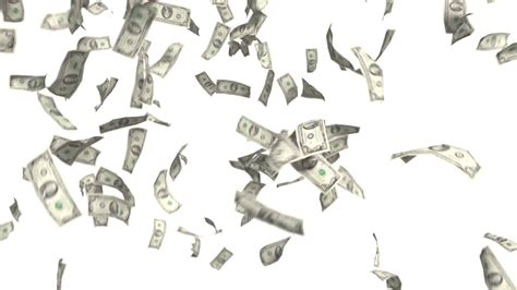 white background with falling numbers money falling dollars financial win us currency tax white