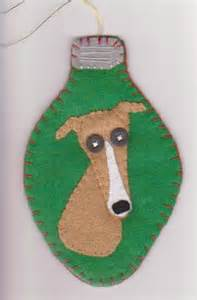 greyhound felt christmas ornament i can make that