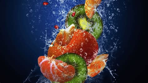 wallpaper full hd fruit full hd wallpaper fruit drop water orange kiwi desktop
