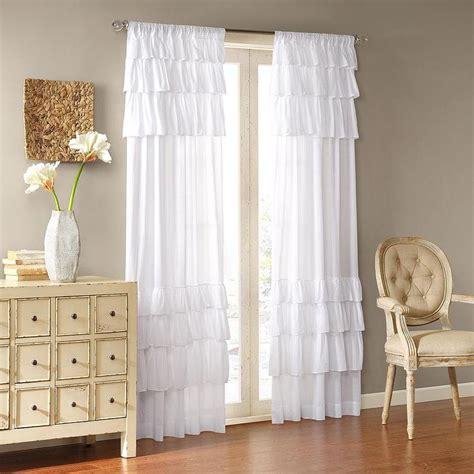 ruffle panel curtains joycelyn cotton 84 inch oversized ruffle curtain panel