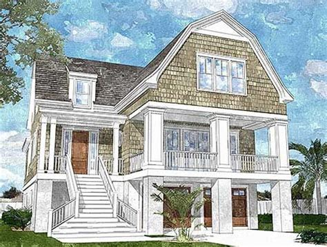 156 best images about beach house narrow lot plans on plan 15039nc gambrel roofed shingle style house plan