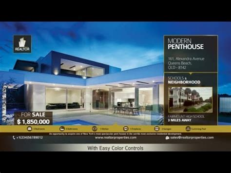 Real Estate Showcase After Effects Template Youtube Real Estate After Effects Template