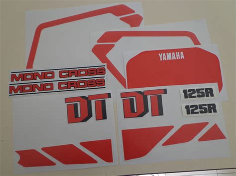 Stickers Yamaha Dtr 125 by 125 Dtr Vintage Stickers
