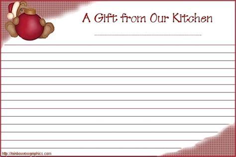 cute printable recipe cards free cute printable christmas recipe cards printables 18