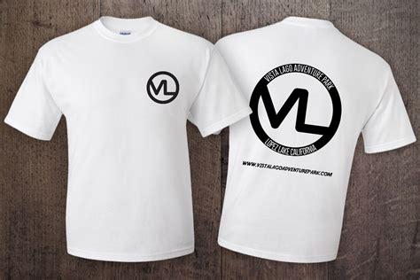 vista lago t shirt white shirt black logo vista lago