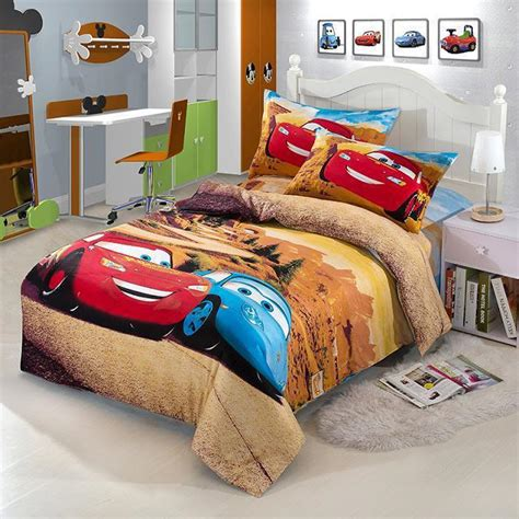 boys twin size bed race car kids boys cartoon bedding comforter set children