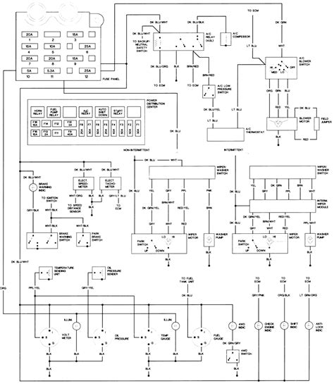 lights wiring diagram for 1990 jeep wrangler get