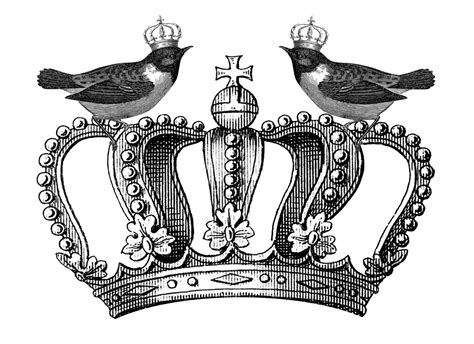 free printable crown images free royal crown and birds printable happy thankful