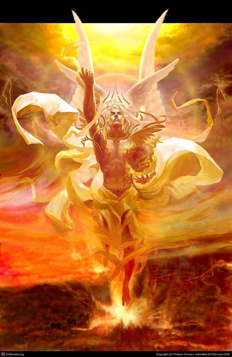 angel of light bible seraphim by thitipon dicruen 2d cgsociety