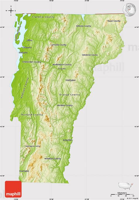 vermont united states map physical map of vermont cropped outside