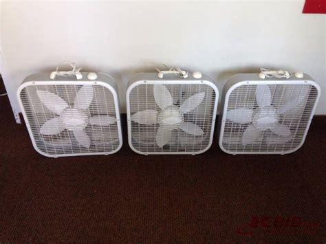 box fans on sale lot of 3 lasko floor standing box fans 3 s moving