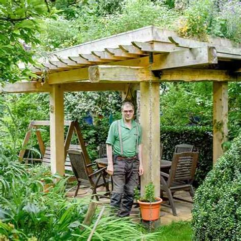 Used Garden Arbor For Sale Salvaged Trees Become Living Roof Garden Arbor Green