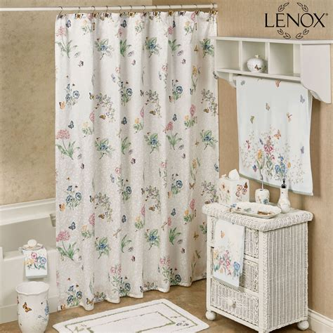 butterfly shower curtain lenox butterfly meadow shower curtain