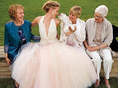 portia de rossie weds ellen degeneres joan dee | wedding