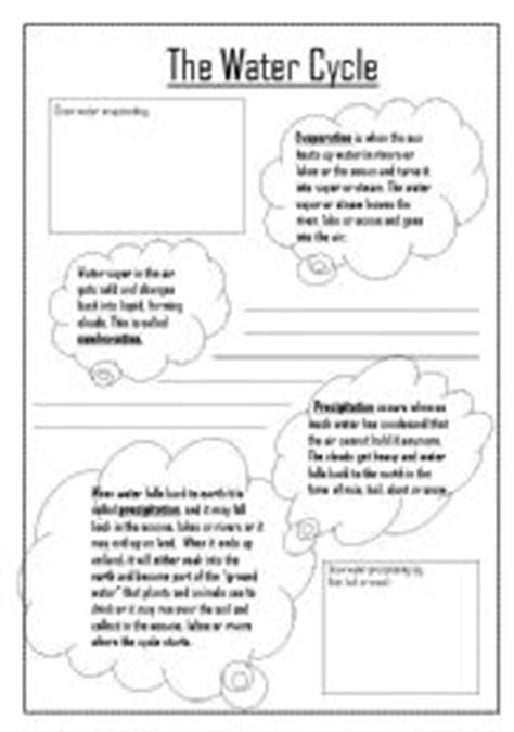 Water Cycle Reading Comprehension Worksheet by Water Cycle Worksheet By Kdowns02