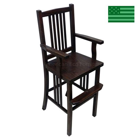 Wooden Youth Chair by Amish Handcrafted Fairmont Mission Youth Chair Solid Wood