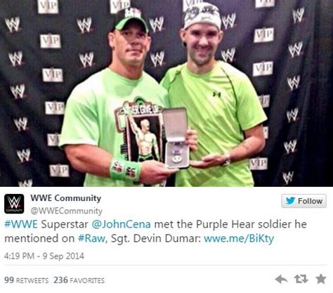 trish stratus nycc 2018 photo of john cena with purple heart solider