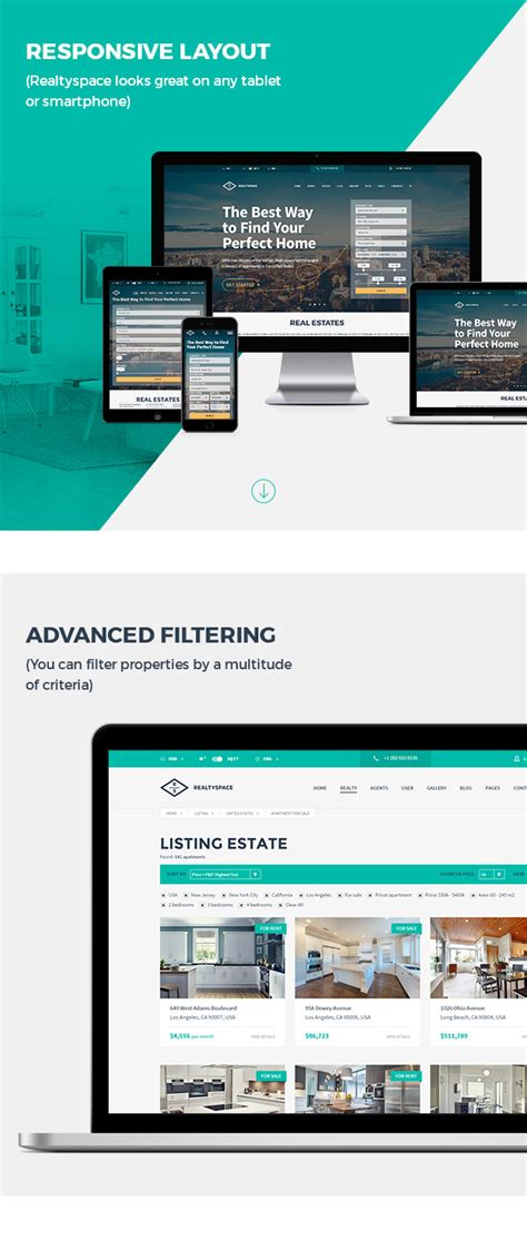 Realtyspace V2 1 2 Real Estate Html5 Template Dashboard Included Themes Ocean Real Estate Dashboard Templates