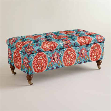 ottoman world market rectangular medallion lucille ottoman world market