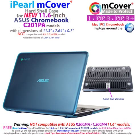 Casing Laptop Notebook D Shell For Asus X450 Murah Csnb62 ipearl mcover 174 shell for asus chromebook c201pa series 11 6 inch laptops