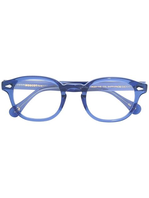 moscot frame glasses in blue lyst