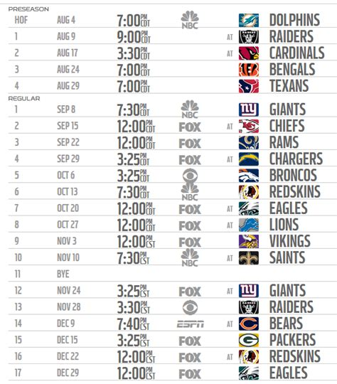 printable nfl season schedule 2014 2015 complete printable nfl season schedule autos post