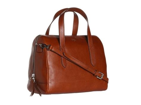 Po Fossil Cognac Bag Ori fossil sydney satchel brown accessories watches