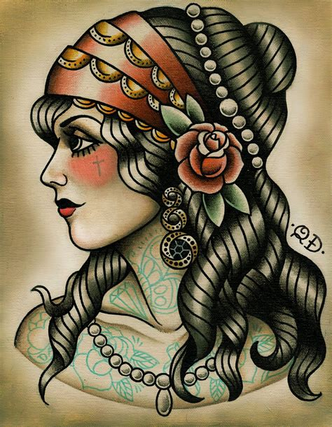 gypsy lady tattoo designs best traditional tattoos designs traditional