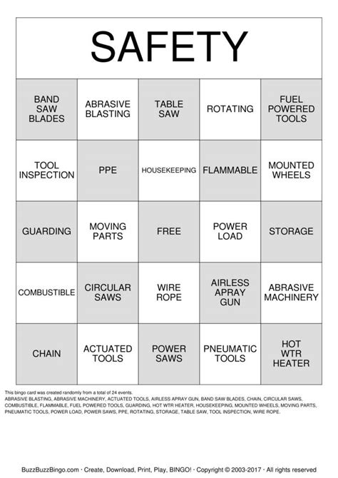 safety bingo template suggestion card template suggestion quotes like success