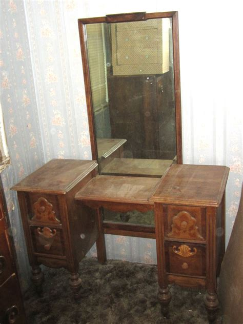 vintage vanity table with mirror and bench antique vintage 1800 s 1900 s yr bedroom vanity makeup