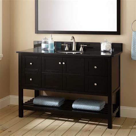black bathroom vanity with 48 quot everett vanity for undermount black bathroom