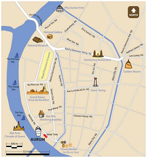 temple grand map rattanakosin island location and aurum bangkok boutique hotel