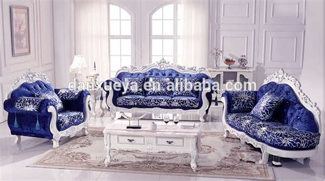 royal blue color sofa set luxury right armrest solid wood chaise lounge buy
