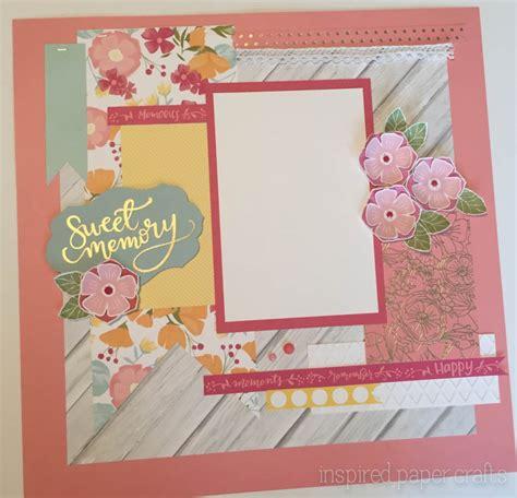 Memories Paper - happy times sweet memories scrapbooking layout