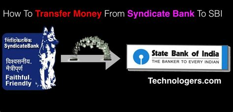 how to transfer money from one bank to another way how to transfer money from syndicate bank to