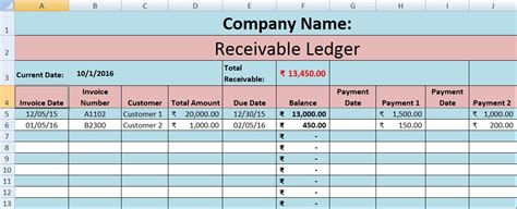 Accounts Receivable Spreadsheet Template by Accounts Receivable Excel Template Exceldatapro