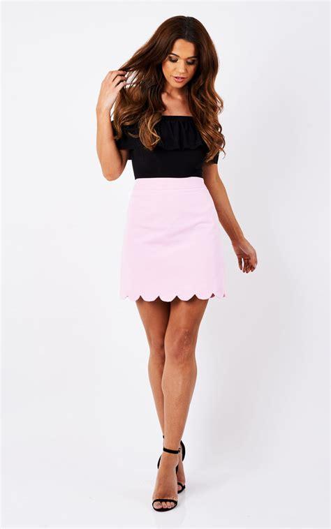 Hem Manvy pink scallop hem skirt silkfred