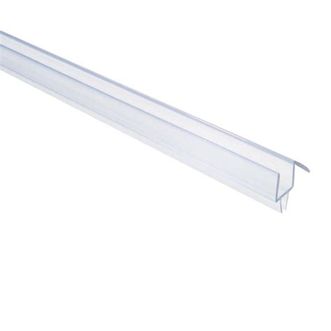 Glass Door Rails Showerdoordirect 36 In Frameless Shower Door Bottom Sweep With Drip Rail In Clear For 3 8 In