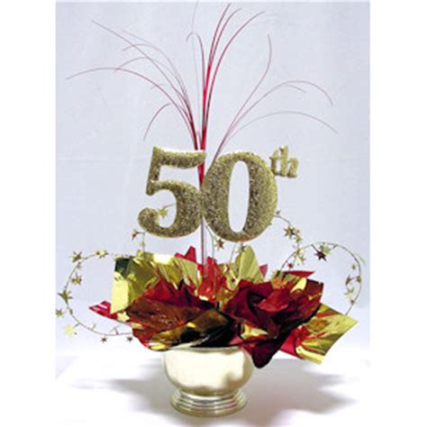 centerpiece ideas for 50th birthday 50th milestone centerpiece