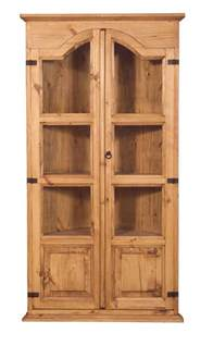rustic pine corner cabinet special order