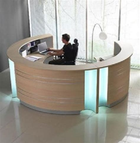 bono circular reception desk information counter