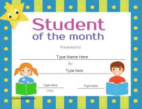 free printable student of the month certificate templates student of the month award certificate template quotes